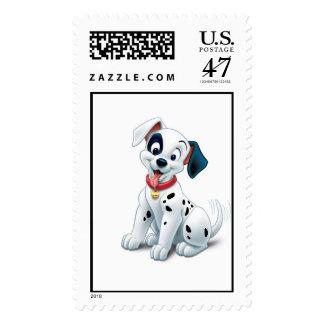 101 Dalmatian Patches Wagging his Tail Disney Postage Zazzle_stamp