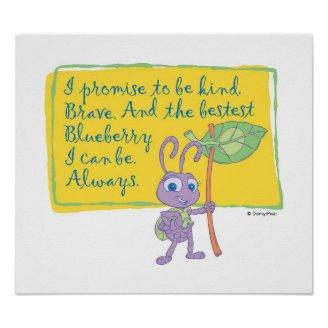 A Bug's Life Princess Dot Pledge Disney Poster Print