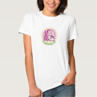 Alice in Wonderland Cheshire Cat grinning flowers Shirt Zazzle_shirt
