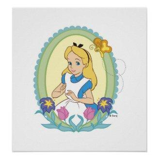 Alice in Wonderland Portrait Disney Posters Print