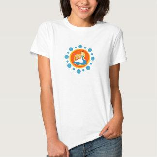 Alice in Wonderland's Alice and Dinah in Circle Tee Shirts Zazzle_shirt