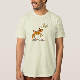 Bambi playing with butterflies tee shirt