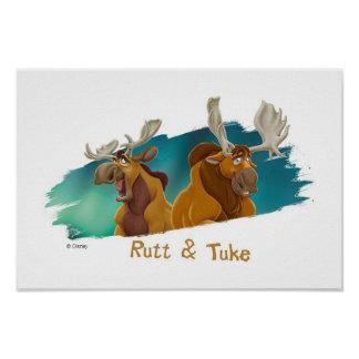 Brother Bear Rutt & Tuke moose Disney Print