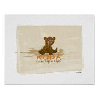 Brother Bear's Koda sitting Disney Posters Zazzle_print