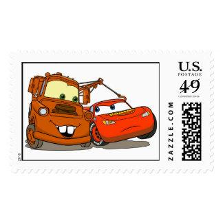Cars's Lightning McQueen and Mater Disney Stamps
