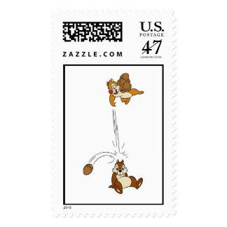 Chip 'n' Dale Nut Fight Disney Postage