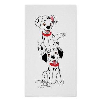 Dalmatians Playing Disney Posters