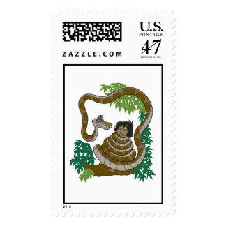 Disney Jungle Book Kaa with Mowgli Postage Zazzle_stamp
