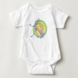 """Dot and Princess Atta """"Girls can do anything!"""" Baby Bodysuit"""