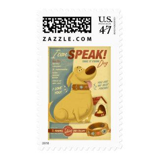 Dug - I can speak! - Muntz talking dog collar Stamp Zazzle_stamp
