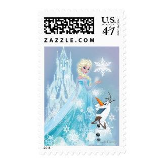 Frozen | Elsa and Olaf - Icy Glow Postage Zazzle_stamp