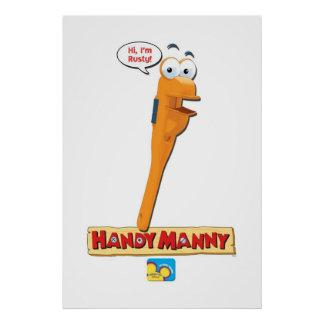 "Handy Manny's Rusty saying, ""Hi, I'm Rusty!"" Poster"