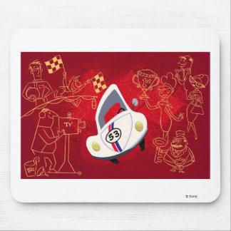 Herbie the Love Bug Herbie Winner Disney Mouse Pad Zazzle_mousepad