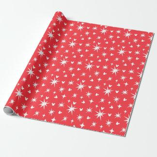 Holiday Mickey Mouse Red and White Pattern Wrapping Paper Zazzle_wrappingpaper