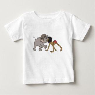 Jungle Book's Mowgli With Baby Elephant Disney Baby T-Shirt Zazzle_shirt