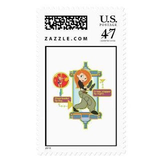 Kim Possible Disney Postage Stamp