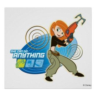"Kim Possible ""She Can do Anything"" Disney Poster Print"
