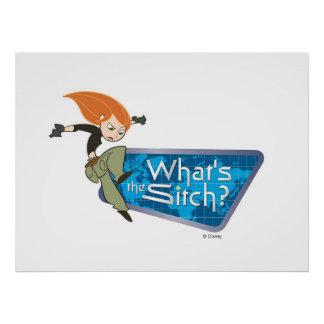 "Kim Possible's Kim ""What's the Sitch?"" Disney Posters Zazzle_print"