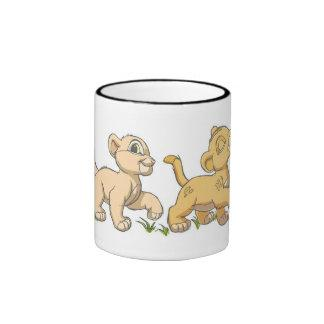 Lion King's Simba and Nala  Disney Ringer Mug Zazzle_mug