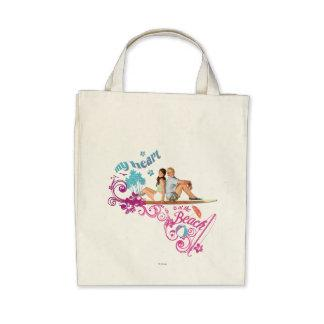 Mack & Brady - My Heart is at the Beach Canvas Bags