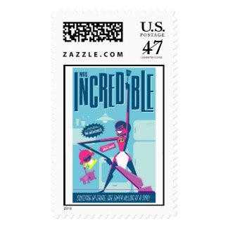 Mrs. Incredible Pop Art Disney Postage Stamp