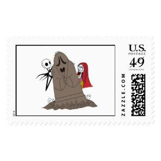 Nightmare Before Christmas Jack, Sally & tombstone Postage