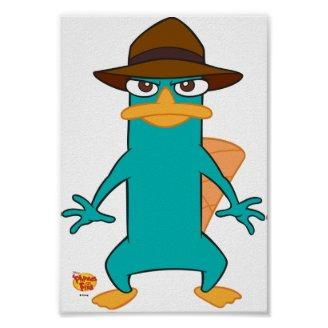 Phineas and Ferb Agent P platypus in hat standing  Posters