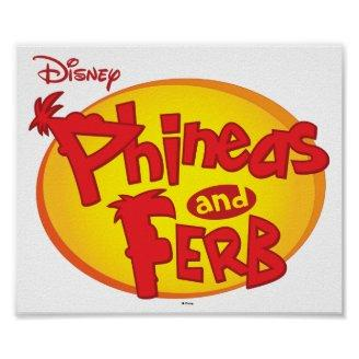 Phineas and Ferb Logo Disney Print