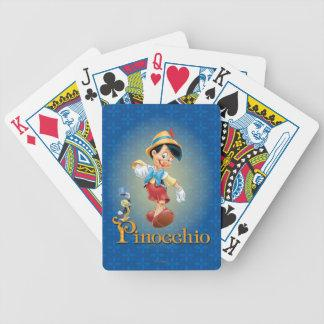 Pinocchio with Jiminy Cricket 2 Poker Deck