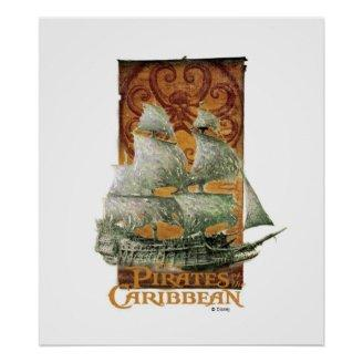 Pirates of the Caribbean Poster Art Disney Print