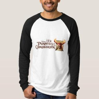 Pirates of the Caribbean Skull torches Logo Disney T-shirt