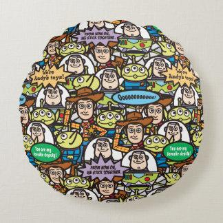 Toy Story   Cute Toy Pattern Round Pillow