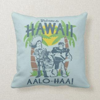 Woody and Buzz - Welcome To Hawaii Throw Pillows